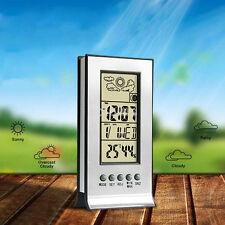 Small LCD Digital Hygrometer Humidity Thermometer Temperature Meter Indoor Clock