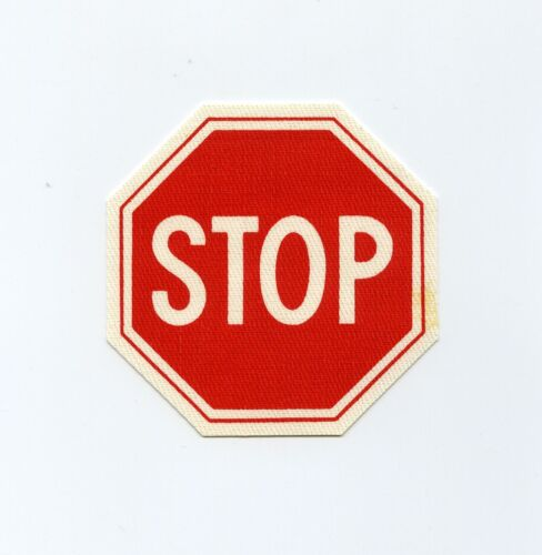 STOP SIGN vintage 60s printed iron on patch
