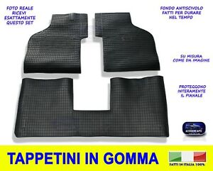 Per Fiat Panda 750 Tappetini in gomma con coprisedili fodere tappeti 1986/>2003
