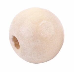 200-Holzperlen-Perlen-8-7x10mm-Basteln-Natur-Stueck-Holz-Loch-2-4mm-Holzkugeln