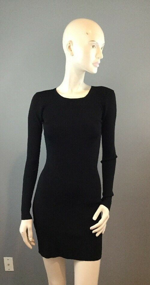 NWOT Elizabeth and James schwarz Woherren Long Sleeve Sheath Dress Cutout XS