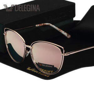 0be7e33db696 Image is loading DELEGINA-Ladies-Big-Cat-Style-Women-Sunglasses-Polarized-