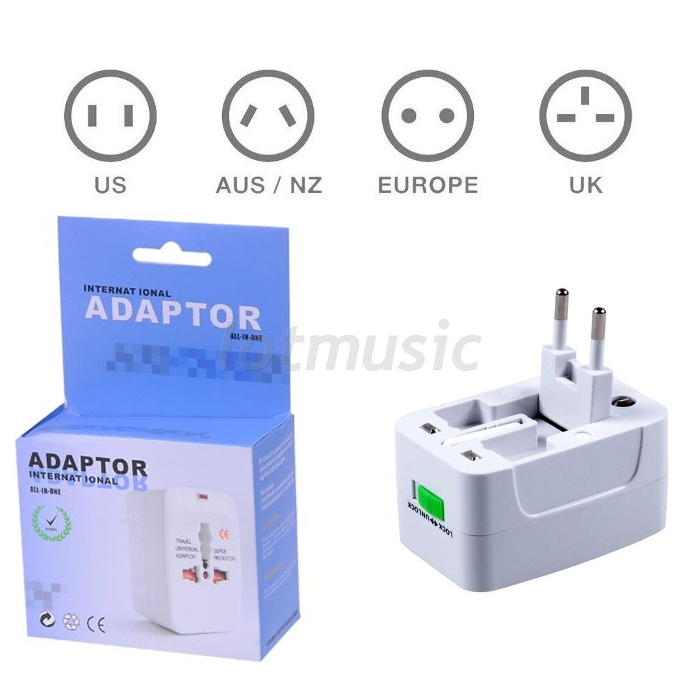 global universal travel plug converter adaptor ac power