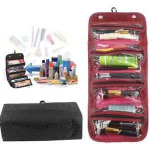 Makeup-Case-Cosmetic-Bag-Roll-Up-Travel-Pouch-Smart-Toiletry-Bag-Hanging-Case-LC