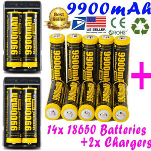9900mAh-10Pcs-Powerful-18650-Battery-Li-ion-3-7v-Rechargeable-Battery-Charger