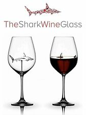 The Original Shark Wine Glass - Handmade Crystal - FREE SHIPPING, SHIPS TODAY