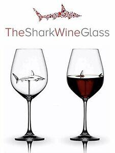 The Original Shark Wine Glass - Handmade Crystal - FREE SHIPPING, SHIPS TODAY