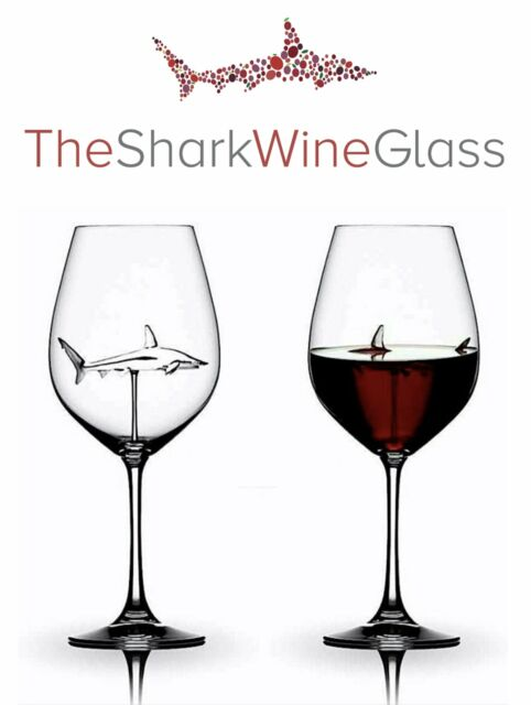 The Original Shark Wine Glass Handmade Crystal Free Shipping Ships Today For Sale Online