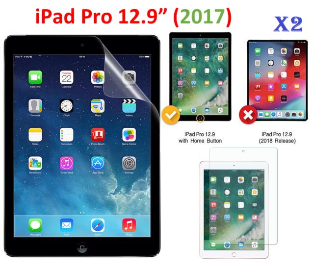 2 X Ultra Clear HD Screen Protector Guard For Apple iPad Pro 12 9