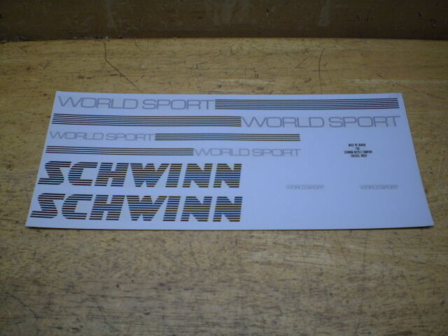 Schwinn World Bicycle Decal Set