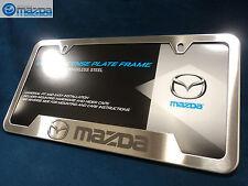 Mazda OEM Brushed Stainless Steel License Plate Frame