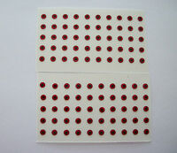 """100 RED PRISM EYES for SPINNERBAITS & LURES   1/8""""  FLAT STICK ON"""