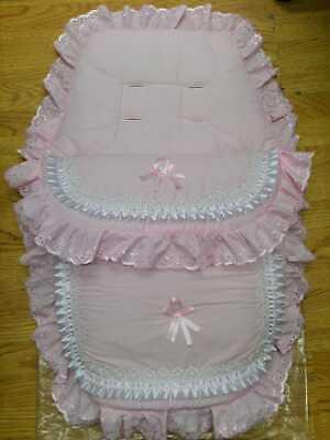 Apprensivo Bellissimo. Carrozzina Cosytoes/sacco Imbottito. Romany. Style. Bling Baby Rosa/nastro- Piacevole Al Palato