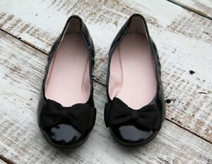 e52d22dd392 RUBY   BLOOM Nordstrom Girls Size 3 Shoes Slip On Bow Black Flats ...