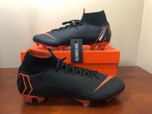 best service ca5c2 22cb2 Nike Mercurial Superfly 6 Elite FG Ah7365-081 Black Soccer Cleats Size 11