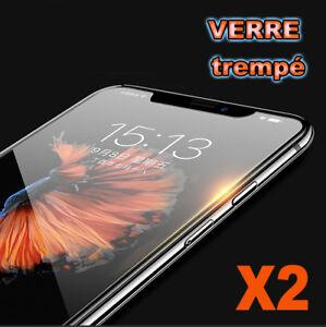 Vitre-iPhone-X-8-7-SE-6-S-5-C-4-Plus-protection-verre-trempe-film-protege-ecran