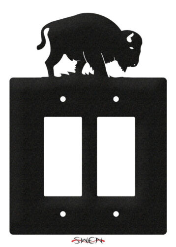 SWEN Products BISON BUFFALO Light Switch Plate Covers