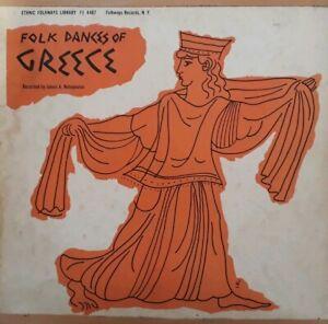 Folk-Dances-Of-Greece-Vinyl-LP-1956-Ethnic-Folkways-Library-FE-4467