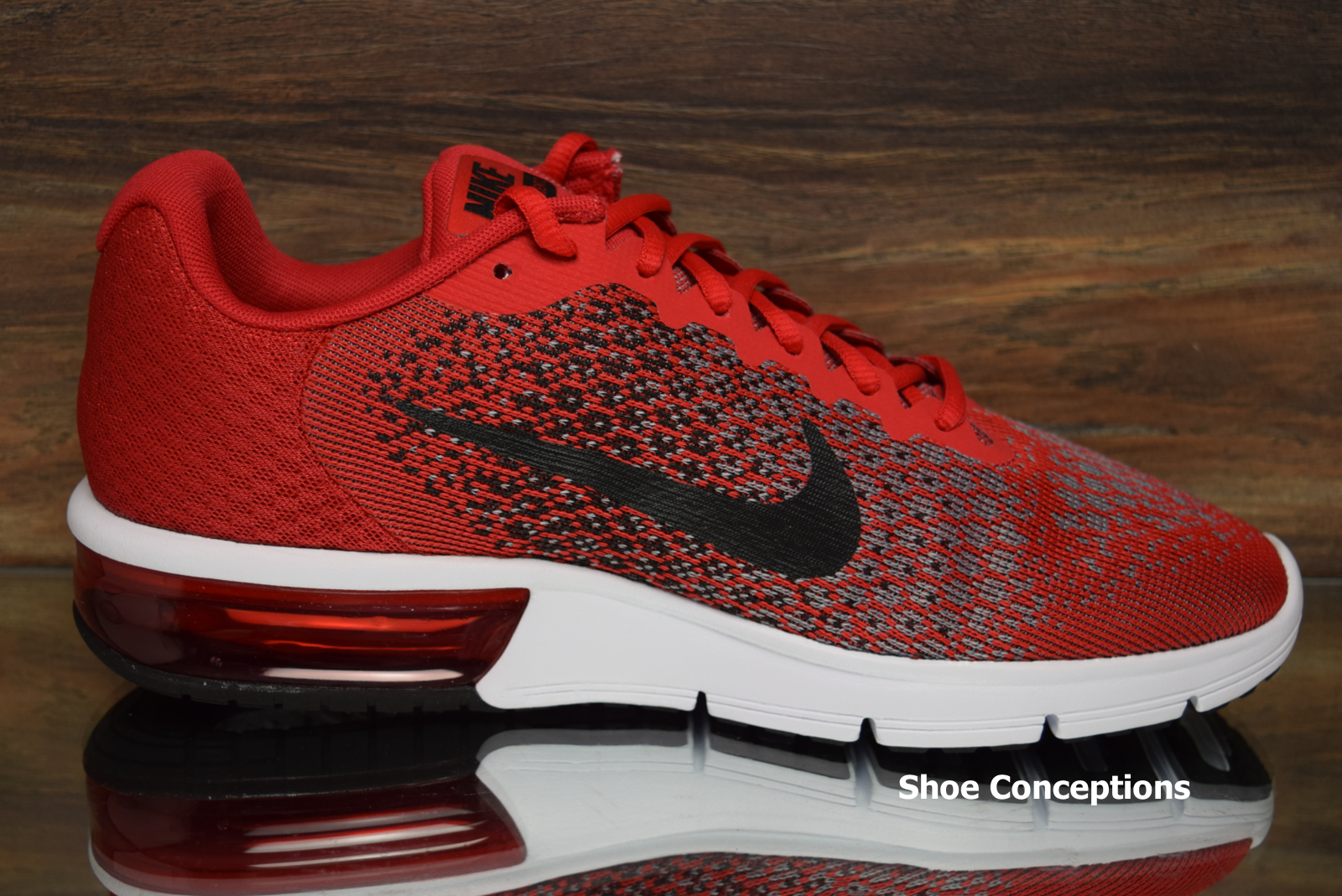 official photos 08c34 83e31 ... Nike Air Max Sequent 2 2 2 Red Black 852461-600 Running Shoes Men s ...