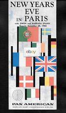 PAN AM 1962 NEW YEARS EVE IN PARIS BROCHURE SAN FRANCISCO KGO RADIO OWEN SPANN