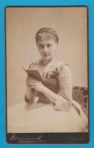 Jenny Groß ( 1863 - 1904 ) - großes Kabinettfoto + original Signatur - selten !!