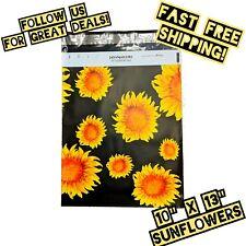 30 Sunflowers 10x13 Designer Poly Mailers Shipping Envelopes Jayamailers
