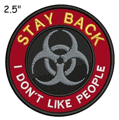 I SURVIVED 2020 BIOHAZARD Response Team Embroidered Patch Iron Sew-On Applique