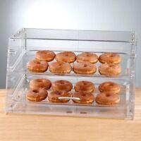 2 Tray Choice Bakery Display Case Front Rear Door Donut Pastry Hotel Store