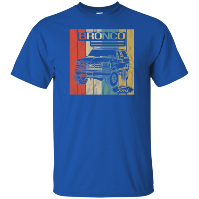 1966-74 Ford Bronco Classic Blue Truck 4x4 Tshirt Mens T-Shirt Tee 100/% Cotton