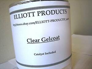 Clear Gelcoat plus MEKP Catalyst, and surfacing Wax,1 gallon