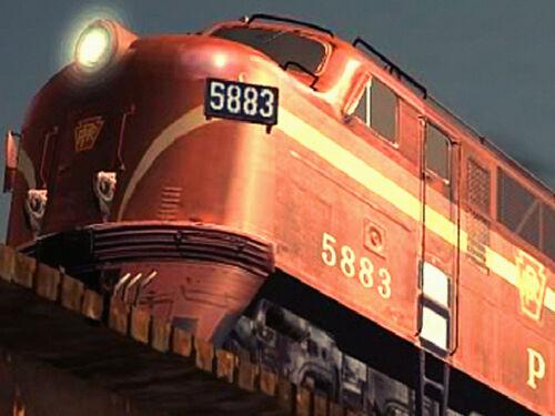 Pennsylvania Railroad EMD Diesel Train Travel Pottsville Poster Art Print 038
