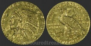 1914-Mini-Gold-Half-Eagle-Indian-Head-USA-Five-Dollars