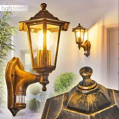 Außenleuchte Hofeinfahrt Wandlampe Bewegungssensor Alu Laterne weiß Höhe 37,5 cm