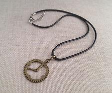 Steampunk clock necklace