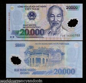 Details About Vietnam 20000 20 000 Dong P120 2017 Ho Chi Minh Polymer Unc Vnd Money Bank Note