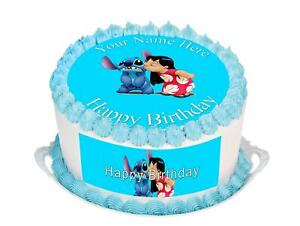 Cake-Topper-Birthday-Lilo-amp-Stitch-personal-Rice-paper-Icing-fondant-Sheet-88
