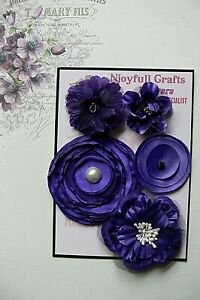 HANDMADE 3 Flower Mix SALMON PINK Organza Satin 35 /& 70mm NjoyfullCrafts HM2-1
