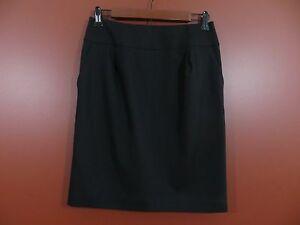 SK04247-NEW-TALBOTS-Woman-Fleece-Wool-Career-Pencil-Skirt-w-Pockets-Black-4P