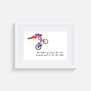 picture print poster wall art gift bike cycling Cyclist home decor