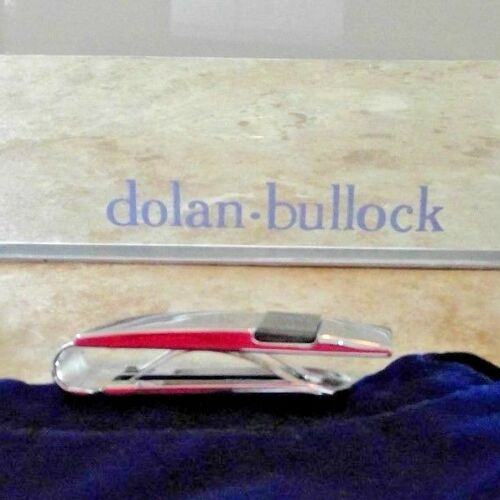 DOLAN BULLOCK 92.5 STERLING SILVER  HEMATITE ONYX money clip dmc026600 $400