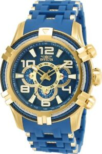 Invicta-25768-Bolt-Men-039-s-51mm-Stainless-Steel-Gold-Tone-Blue-Dial-Watch