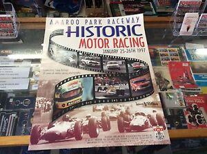 AMAROO-PARK-RACEWAY-HISTORIC-MOTOR-RACING-POSTER-1997-FEATURING-AYRTON-SENNA