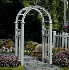 Garden Arbor Arch Wedding Trellis Patio Yard White Vinyl Decor Entrance  Pergola