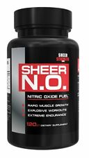 SHEER STRENGTH N.O. NITRIC OXIDE BOOSTER MUSCLE PUMP GROWTH 120 CAPSULES