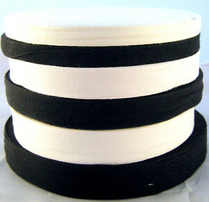 19mm Black or White Cotton Tape 6mm Apron 12mm 25mm Twill Tape Bunting