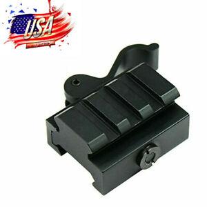 45° Offset 2 Rail 3 Slot QD Scope Mount 20mm Picatinny Rail Base For Rifle Sight
