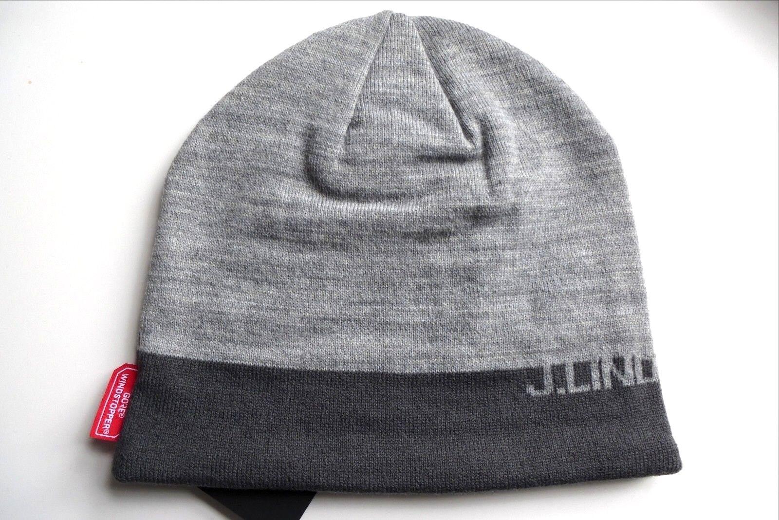 J.LINDEBERG Sweden 50% Wool GREY MELANGE GORE WINDSTOPPER Beanie Toque Unisex