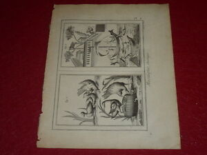 ENCYCLOPEDIE-DIDEROT-ARTS-amp-METIERS-MOSAIQUE-2-PLANCHE-GRAVEE-18e-b