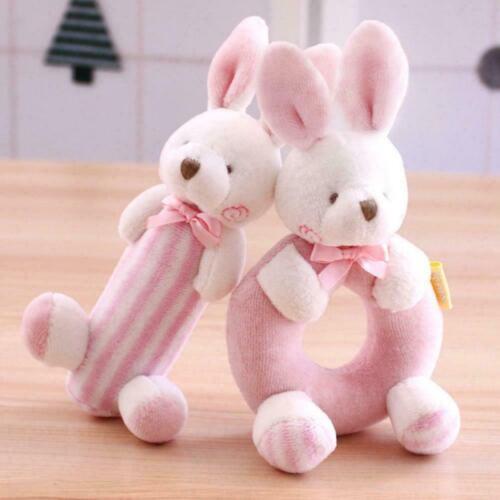 Geschenk Set Baby Rasseln Weiche Plüsch Spielzeug Kaninchen Runde Glocke Ha L7P0