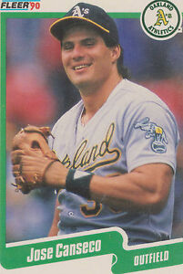 1990 Fleer Jose Canseco 3 Baseball Card